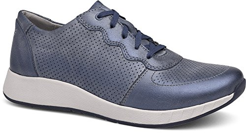 Christina off Metallic Lace Brush Blue Shoes up Dansko Women's PW5aw7FFq