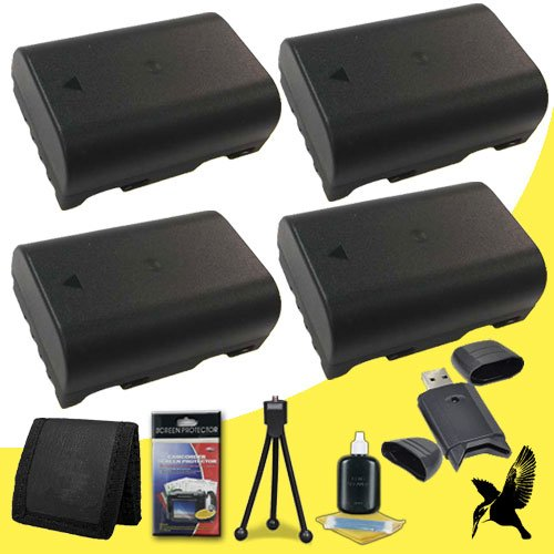 Four Halcyon 2200 mAH Lithium Ion Replacement DMW-BLF19 Battery + Memory Card Wallet + SDHC Card USB Reader + Deluxe Starter Kit for Panasonic Lumix DMC-GH3 Mirrorless Micro Four Thirds Digital Camera and Panasonic DMW-BLF19 by Halcyon
