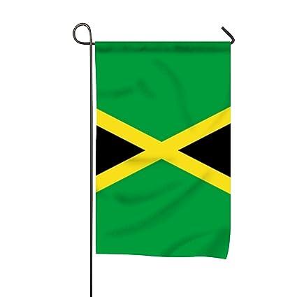 Amazon com : Flag of Jamaica Home Flag Designer Garden Flag Unique