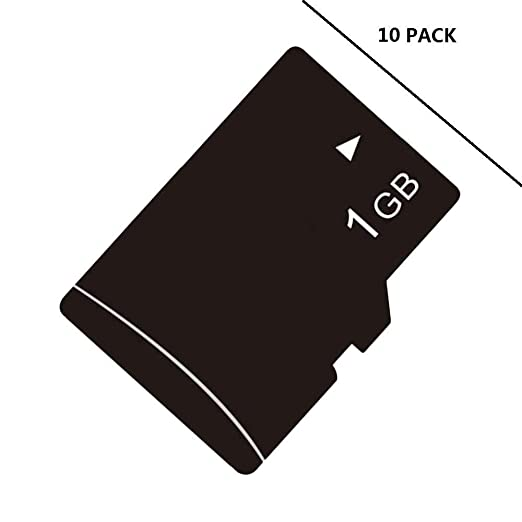 Cewaal 10 PACK-1G High Speed SD TF Tarjeta de Memoria Flash ...