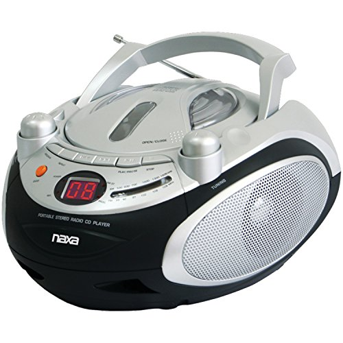 NAXA Electronics Portable CD Player and AM/FM Stereo Radio