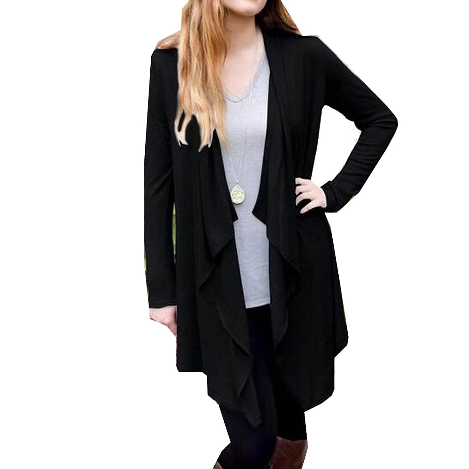 NQ Womens Comfortable Long Sleeve Slim Fit Bat Cardigan