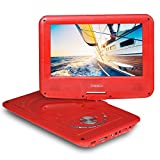 SYNAGY 9inch Portable DVD Player CD Player, Pure Red