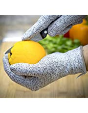 Petgrow Cut Resistant Work Gloves Level 5 Hand Protection, Kitchen Gloves/Food Grade Safety Gloves/Builder Gloves/Garden Outdoor Home DIY Use