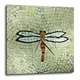 3dRose Dragonfly on Beige Wall Clock, 10 by 10-Inch For Sale