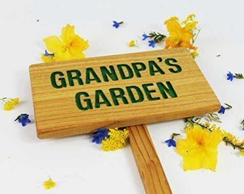 GRANDPA'S Garden Sign, Personalized Marker, Custom Sign, Father's Day Gift, Yard Art, Outdoor Marker, Driveway Sign, Gift for Him
