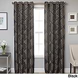Cheap Softline Monica Pedersen Morgan Drapery Window Panel Black 54 x 96 96 Inches