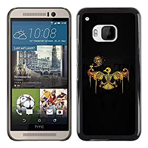 Be Good Phone Accessory // Dura Cáscara cubierta Protectora Caso Carcasa Funda de Protección para HTC One M9 // Phoenix Bird Skeleton Skull