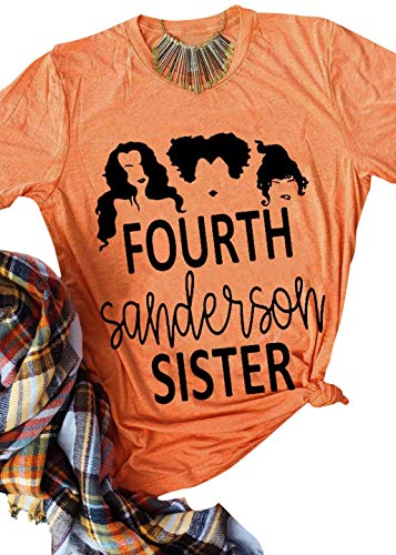 kikisa Halloween Fourth Sanderson Sister T-Shirt Costume Women Funny Cute Graphic Tops (Large, Orange)]()
