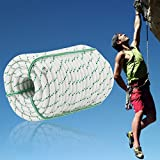 Blackpoolfa Rock Climbing Rope 14mm Double Braid Multi-Purpose Utility Rope Polyester Pulling Rope 8400Lbs for Camping, Emergency, Boating & Outdoor Use, 38m Length