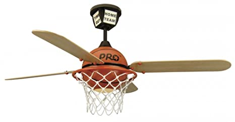 Craftmade ps52bb four blade 52 prostar basketball ceiling fan craftmade ps52bb four blade 52 prostar basketball ceiling fan with light and remote sports ceiling fan amazon mozeypictures Choice Image