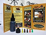 Tattoo Jagua Gel -6 Detailing Tips -70+designs -Support Non-Profit--Reusable Bottle (20ml)