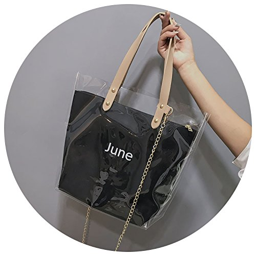 Pink transparent fashion handbags 2018 Summer women's bag shoulder SHzZw0n