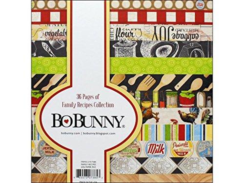 Bo Bunny Family Recipe Paper Pad - Scrapbook Bo Bunny