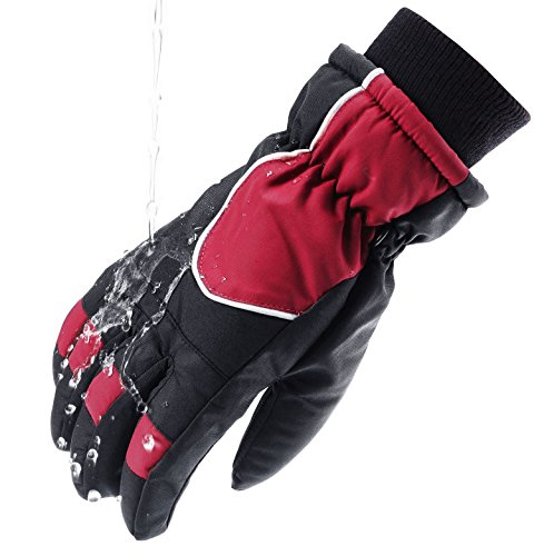 - Wantdo Men's Windproof Thinsulate Warm Ski Gloves Insulated Outdoor Snowmobile Gloves(Black, X-Large)