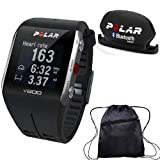 Polar - V800 GPS Sports Watch with Bluetooth Cadence Sensor and Bag - Black