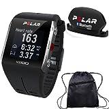 Polar - V800 GPS Sports Watch with Bluetooth Cadence Sensor and Bag - Black