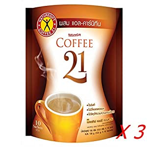 Naturegift Instant Slimming Coffee Powder 21 with L-Carnitine & Vitamin (Pack of 30 Sachets) Ship with Tracking Number