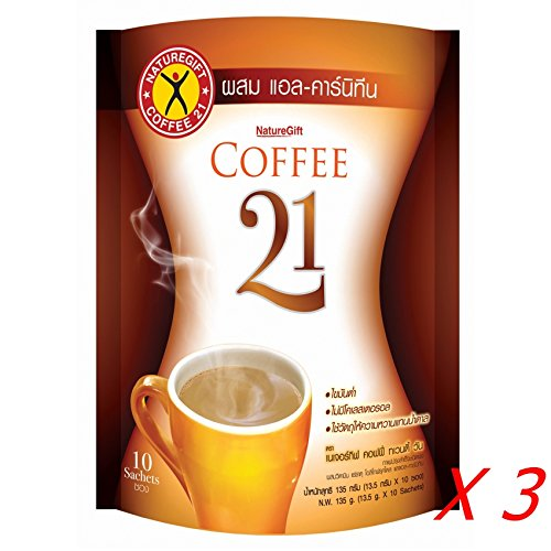 Naturegift Precooked Slimming Coffee Powder 21 with L-Carnitine & Vitamin (Pack of 30 Sachets) Ship with Tracking Number