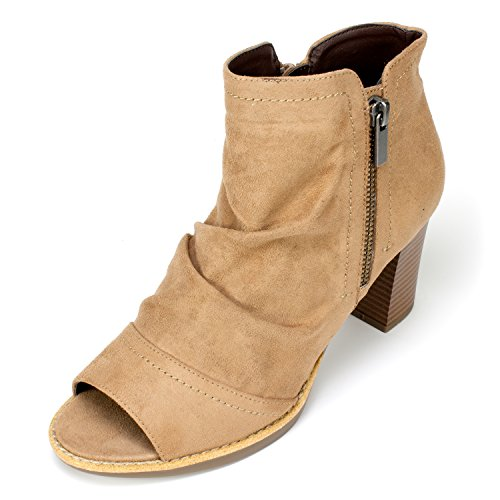 WHITE MOUNTAIN Women's Gemini Ankle Bootie, Walnut, 8.5 M - Outlet Mountain White