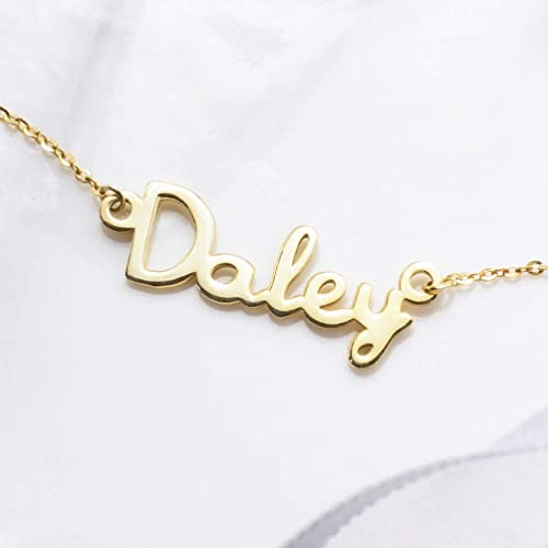 9d554f46d Image Unavailable. Image not available for. Color: Graceful Rings Gix  Minimalist Personalized Name Necklace ...