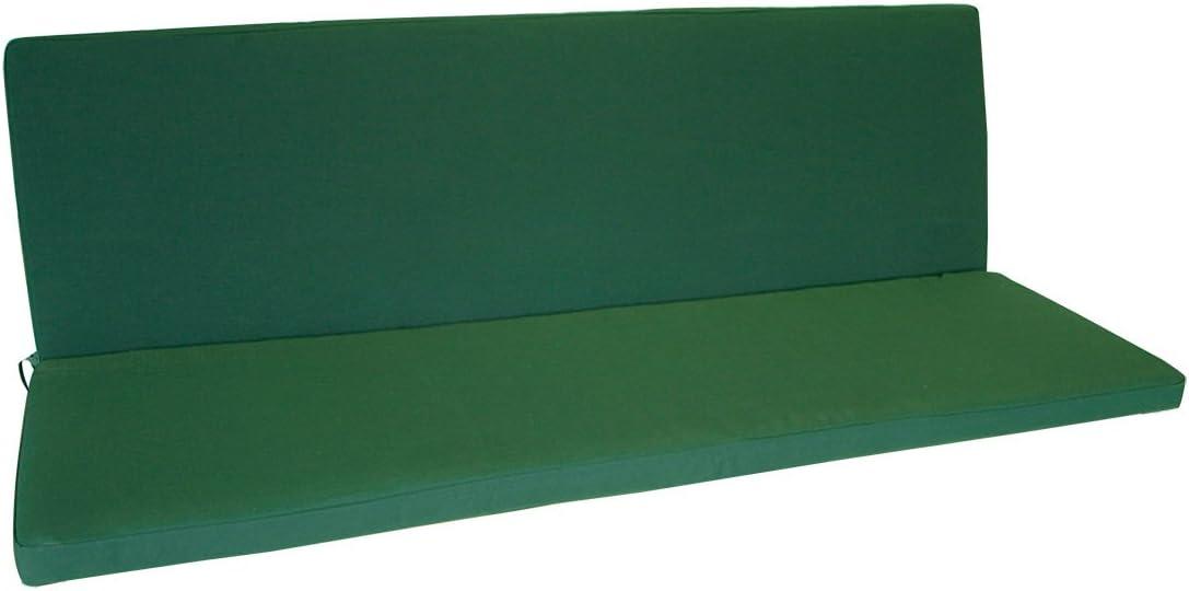 98x88x5cm Farbton Dunkelgr/ün TPFGarden 2er Bankauflage DENVO