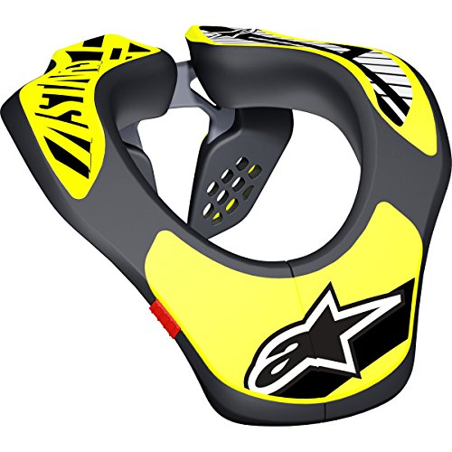 Alpinestars Youth Neck Support, Black/Yellow Fluo One Size