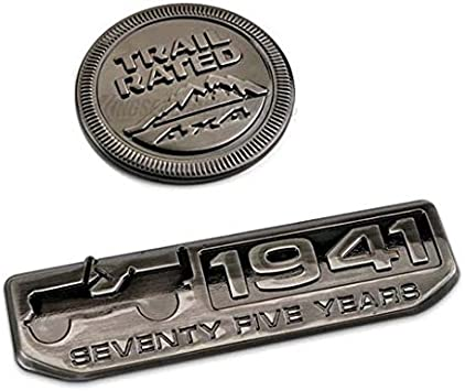 Black 1941 75 Years Anniversary Emblem Car Trunk Badge For Jeep Willys Cherokee