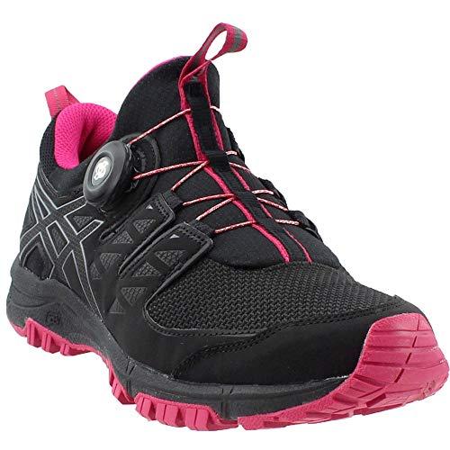 - ASICS Women's Gel-FujiRado Trail Running Shoes (7.5 (B) M US, Black/Carbon/Cosmo Pink)