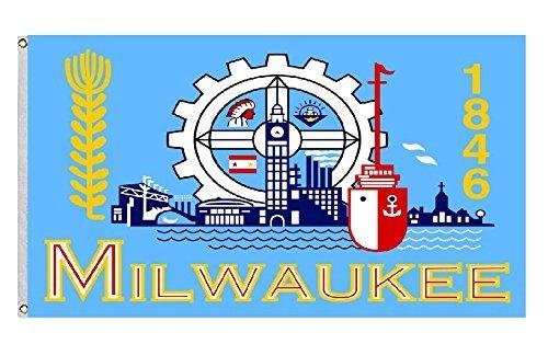 City of Milwaukee Wisconsin Large flag Size ()
