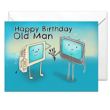 Old Man Birthday Card Glossy Large A5 With Envelope Humorous