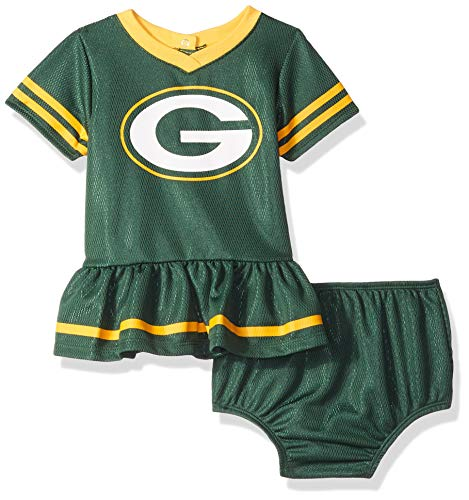 NFL Green Bay Packers Baby-Girls 2-Piece Football Dress Set, Green, 3-6 Months