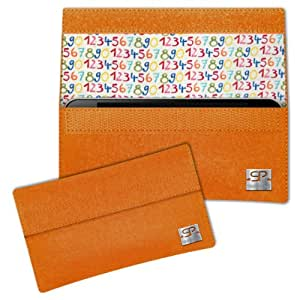 SIMON PIKE Cáscara Funda de móvil NewYork 12 naranja Samsung GALAXY S4 mini Fieltro de lana