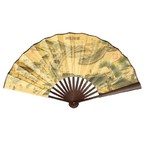 uxcell Chinese Pattern Bamboo Folding