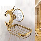 HCP Golden ceramic carved soap rack Soap dish Bathroom wall-mounted soap box-A