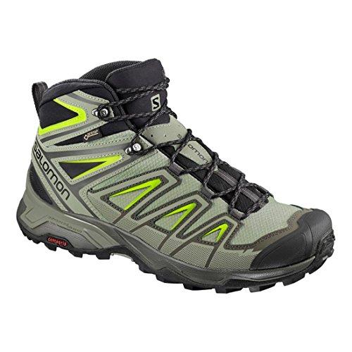 Zapatillas De Trail Running Salomon Para Hombre X Ultra 3 Mid Gtx Beluga / Shadow / Lime Green