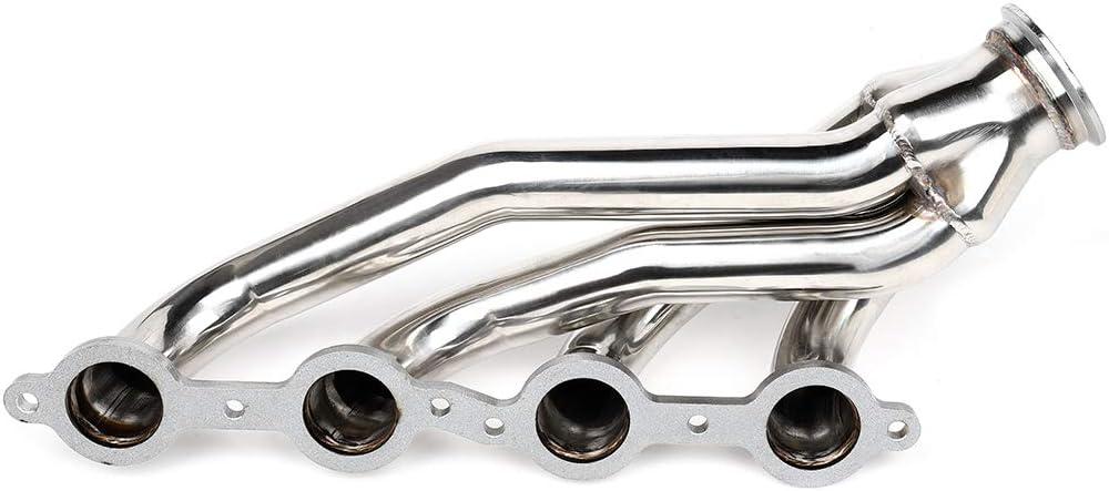 Exhaust Header Shorty Engine Conversion Swap Truck Aintier Stainless Steel Header for Chevy GMC Trucks LS1 LS2 LS3 C-10 LS Pickups