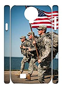 Protective USA Flag Custom Samsung s4(3D) Case Well-designed Hard Case Cover .