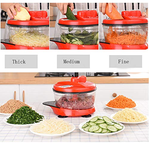 Multifunctional Manual High Speedy Vegetable Fruit Meat Twist Chopper Cutter Shredder Grinder by NOQ (Image #2)