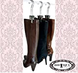 upright boot holder - The Original Boot Hanger - Shoe Storage Space Saver (set of 3); Boot Hanger, Boot Holder, Boot Clips (Silver)