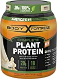 Body Fortress, Plant Based Protein Powder, Vanilla, 1.51 Pounds, 20 Grams of Protein Per Serving, Vegan Protein Powder With Pea Protein Isolate and Complete Essential Amino Acids, Dairy-Free