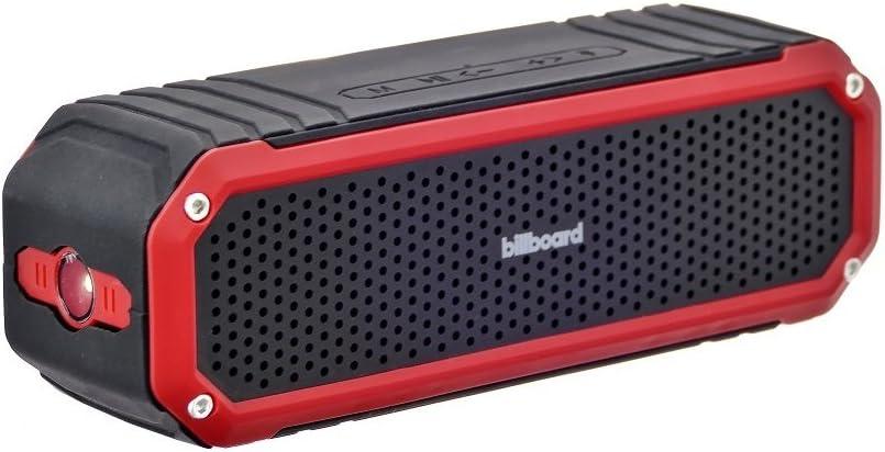 Billboard - Altavoz Bluetooth resistente al agua, color rojo