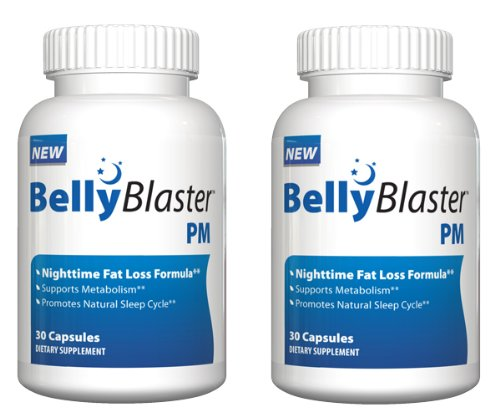 Belly Blaster PM - Night Time Weight Loss Pill - Loss Weight While You Sleep - 60 Day Supply, Pack Of Two by Genetic Solutions