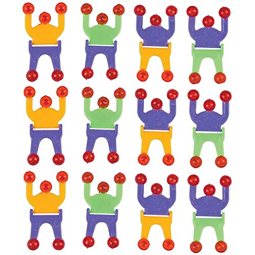 (Wall Climber Crawler Sticky Men - 2.75 Inches - Pack of 12 - Sticky Climbers Assorted Colors - for Kids Great Party Favors, Bag Stuffers, Fun, Toy, Gift, Prize, Piñata Fillers - by Kidsco)