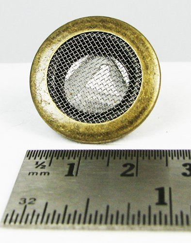 25pc. Antique Brass 1'' (outside diameter) Screened Grommets with Washers by C. B. Gitty (Image #2)