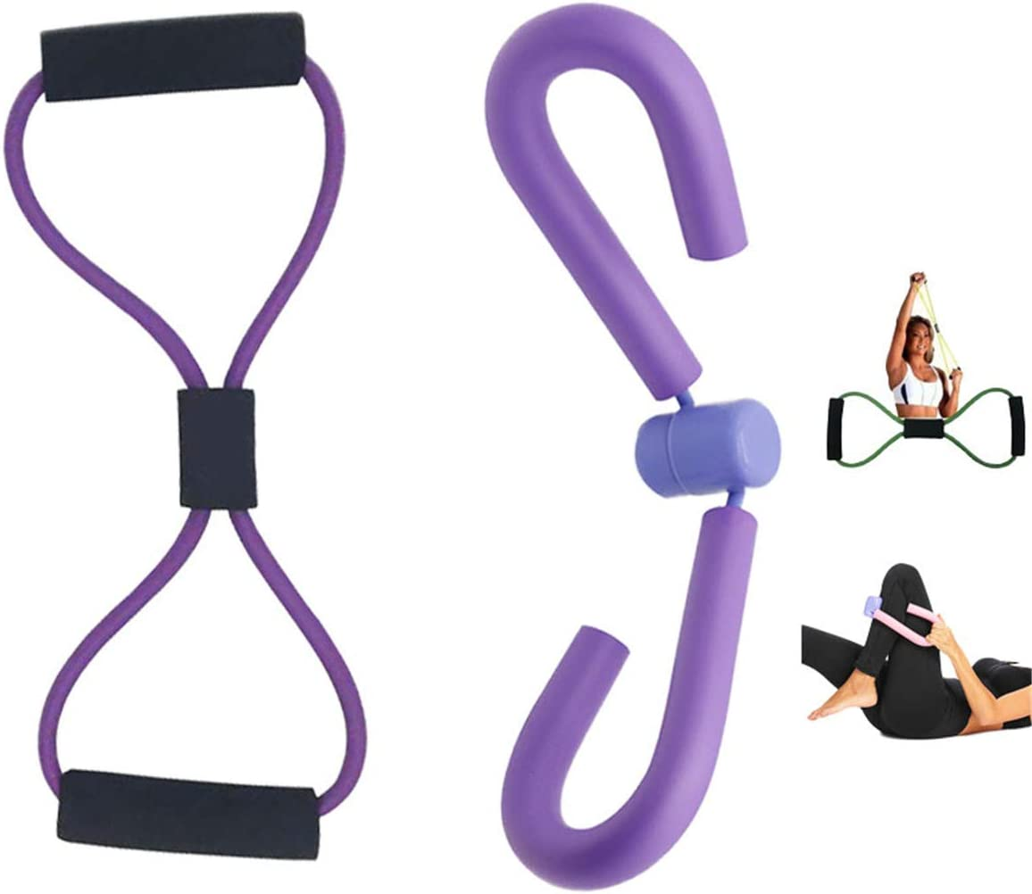 Amazon Com Jeleuon Home Gym Yoga Sport Multifunctional Thigh Master Muscle Fitness Equipment Thigh Trimmer Leg Exercise Bodybuilding Expander Slimming Training Purple Sports Outdoors