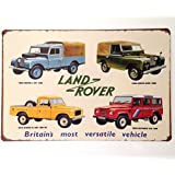 WALL SIGN TIN PLAQUE GARAGE SHED LAND ROVER OFF ROADING DEFENDER