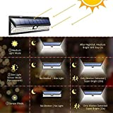 TechCode Solar Wall Lights, LED Solar Security Lights with PIR Motion Sensor Waterproof Solar Powered Wall Lamp Outdoor Street Lights for Step, Garden, Yard, Deck or More(A01)