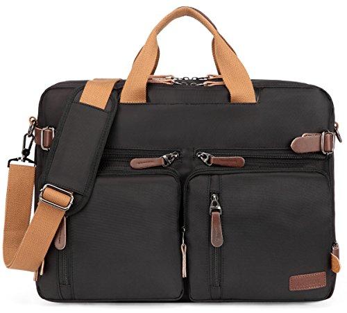Kenox Vintage Laptop Backpack Messenger Briefcase Unisex Convertible Laptop Rucksack