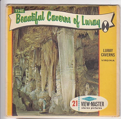 View-Master The Beautiful Caverns of Luray Virginia Vintage ViewMaster 3 Reel Set with Original Cover
